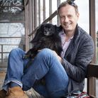 Photographer Phil Girdlestone and his dog Millie. Picture: Col Hajee