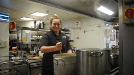 Jade Newth is training in the chef academy and learns on the job at The Railway Inn.