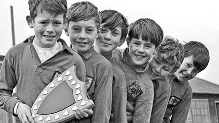 Winners of Weston Junior Schools annual six-a-side competition, Ashbrooke House. Robert Jackson who