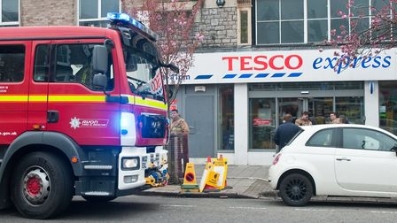 Fire engine at the Tesco's express store in the Boulevard. Picture: MARK ATHERTON