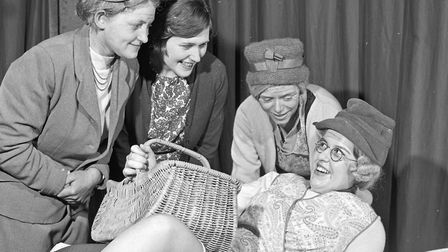 Cathy Jones, Gillian Roynan, Jean Tutcher and Sue Topping in a scene from the play, The Diamond Toot