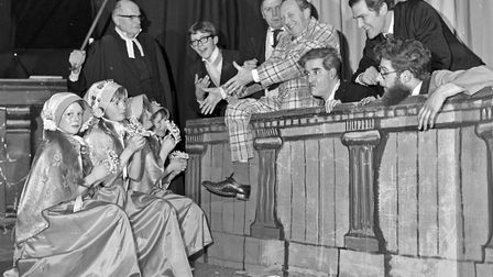 Staff, parents and pupils co-operated in a production of Trial By Jury staged at St. Peter's School,
