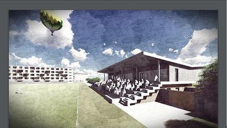 An artist's impression of the proposed rugby club development. Picture: BBC