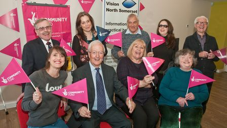 Service users & team at Vision North Somerset have received a £336k Lottery funding grant. Picture: