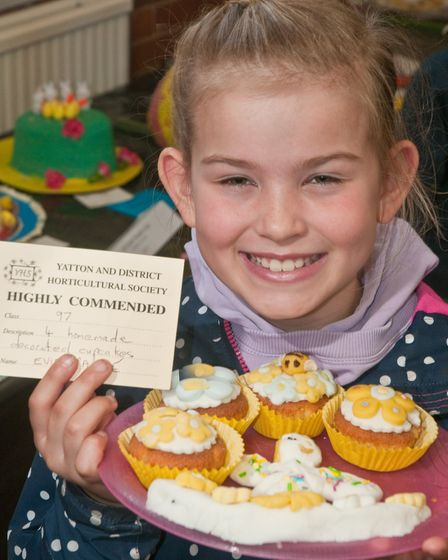 Evie Payne won a Highly Commended for her cupcakes at Yatton Spring Show. Picture: MARK ATHERTON