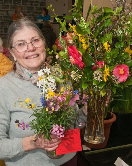 Yatton Spring Show, Merinda Naimi Akbar with some of her prize winning flowers. Picture: MARK ATH