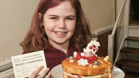 Daisy Smith won a Highly Commended for her Sandwick Cake at Yatton Spring Show. Picture: MARK ATH