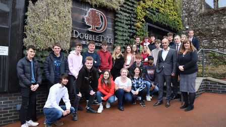 Backwell School sixth form students were given a tour of DoubleTree by Hilton, Cadbury House picture