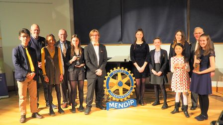 Competitors in the Mendip Rotary Young Musician competition. Picture: John Mander