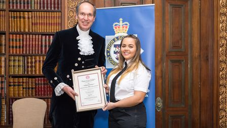 Megan Brunt who was awarded for saving a woman's life.
