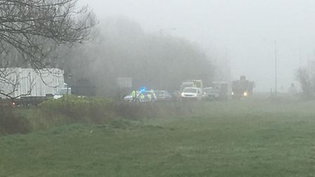 The collision is causing delays in both directions on the A370.