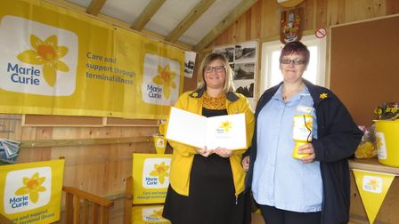 The Marie Curie rmeemberance Book visited Burnham-on-Sea's The Old Railway Box Picture: Marie Cur