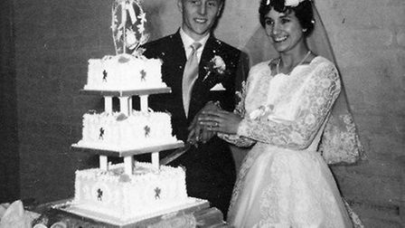 Colin and Rosemary Pratt on their wedding day in 1959