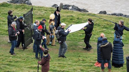 Filming for new drama of Jane Austens Sanditon at Sand Point