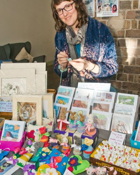 Cathy Loosemore of the Design Pair at Weston Museum's Mother's Day craft fair. Picture: MARK AT