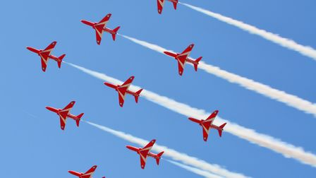 The infamous red arrows at Weston Air Festival last year.