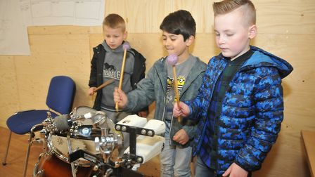 Kids taking part in Terrestrials Make Some Noise! event.Picture: Jeremy Long