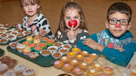 Pupils from Yatton dressed in their pyjamas and held a cake sale. Picture: MARK ATHERTON