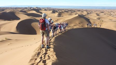 The fundraisers will be supported by Berber guides and a camel train.