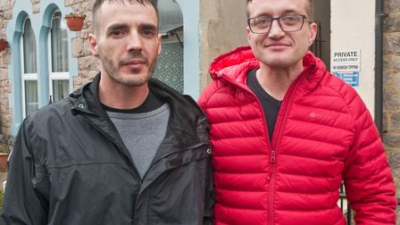 John Carvahlo and Dawid Skowyra, who's actions saved 10 people from a burning building in Longton Gr