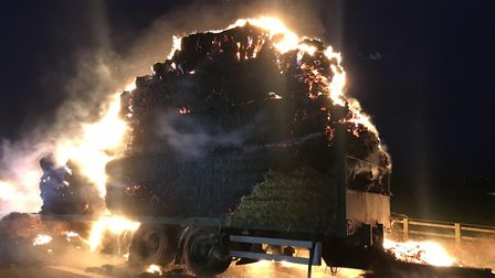 A trailer caught fire on the M5 southbound between Weston-super-Mare and Clevedon on March 13.
