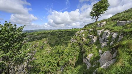 View from the south side of Cheddar Gorge, Somerset.