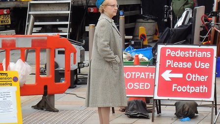 Filming BBC Drama Production in Regent Street. Picture: Nick Page Hayman