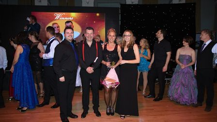 Winners Angie Szabo and Stuart Milne with Ben Hazell and Ali Cooling from Burning Salsa.