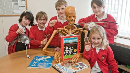 Wraxall Primary School pupils enjoying science week. Picture: MARK ATHERTON