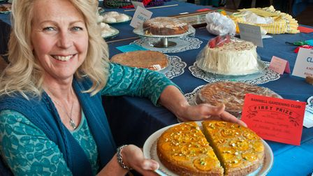 Laura Tipping prize winning polenta cake at Banwell Spring Show. Picture: MARK ATHERTON