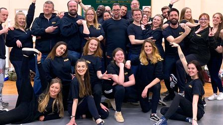The cast of Hot Mikado. Picture: Weston Operatic Society