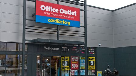 Office Outlet in Westons Gallagher Retail Park is closing. Picture: MARK ATHERTON