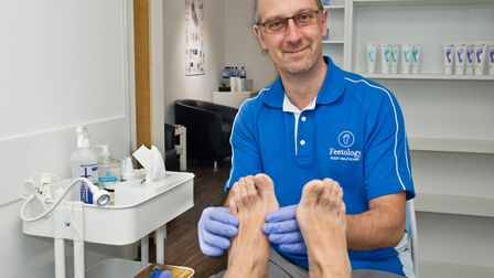Paul Hill at his new chiropody clinic Footology, Box Bush Farm, Summer Lane, West Wick. Picture: