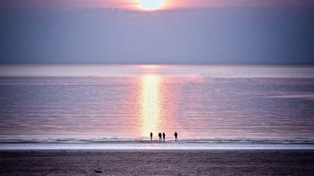 A beautiful evening's sunset at Weston Beach. Picture: Derek Hitchins