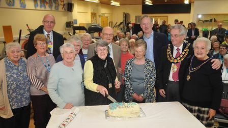 Graham Paine Chairman of the Trust and June Stephen Chair of the league of Friends Weston General Ho