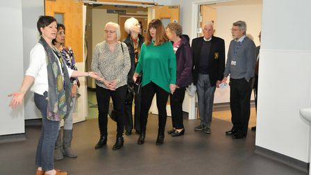 Jane Baker Deputy Supt Lead Senographer takes people on a tour of the new facilities. Picture: Jerem