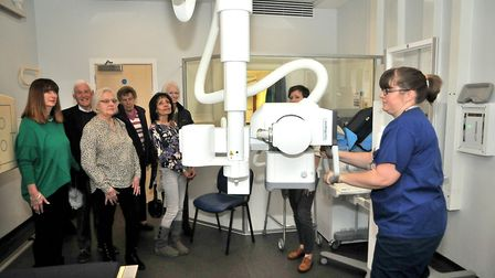 Radiographer Dee Usher shows the new Philips Digital xray. Picture: Jeremy Long