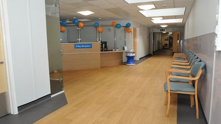 The new waiting areas Weston General Hospital. Picture: Jeremy Long