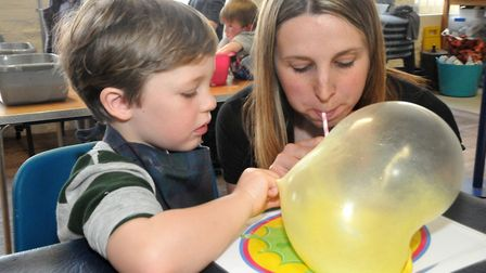 Jess Mcilveen owner of Splat Messy Play with George 4Weston Museum Easter themed slimed workshops. M