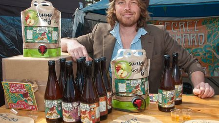 Joe Heley from Exmoor Cider. Picture: MARK ATHERTON