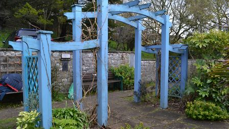 The pergola needs a fresh lick of paint. Picture: Henry Woodsford