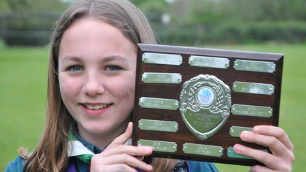 Phoebe Jonston (scout), Congresbury Youth Partnership awards night.26,04,19
