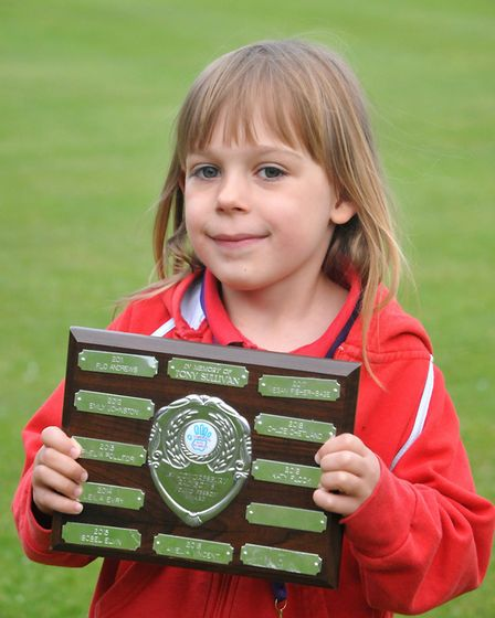Katie Flook (rainbow), Congresbury Youth Partnership awards night.26,04,19