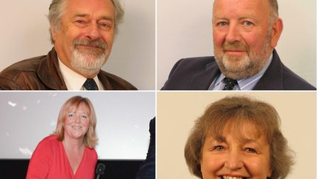 Four top Tories have lost their seats at North Somerset Council. (Clockwise from top-left: Elfan Ap
