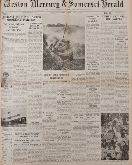 Front Page 18th April 1969 Edition. Picture: WESTON MERCURY