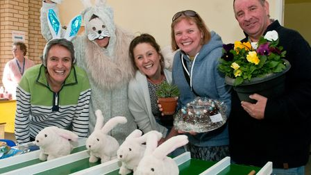 Bunny racing proved popular at the Friends of Weston Hospicecare Easter Fair. Picture: MARK ATHER