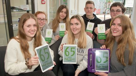 Number 65 High Street, Nailsea. Nailsea School students volunteering to help the 'techno-timid'.