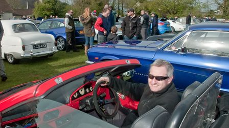 Dave Parry with his GTM Spyder. Picture: MARK ATHERTON