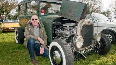 Paul Quick and his 1929 Model A Ford Tudor Sedan Hot Rod. Picture: MARK ATHERTON