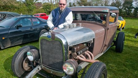 Keith Harrison with his Model A Ford Hot Rod from 1929. Picture: MARK ATHERTON